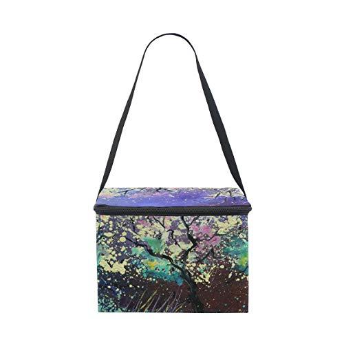 COOSUN - Bolsa de almuerzo con aislamiento de primavera para pintura al óleo con correa ajustable para el hombro para mujeres y hombres