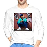 Jia Mei Hua Men's DaBaby Classic Long Sleeve T-Shirt Crew Neck Long Sleeve Printed Shirt Graphic Tee White