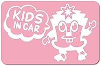 imoninn KIDS in car ステッカー 【マグネットタイプ】 No.65 ハーイさん (ピンク色)