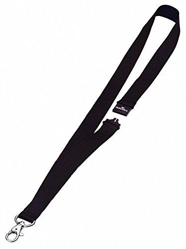 Durable 813701 Cinta textil , con cierre de seguridad, 44 x 20 mm, Paquete de 10 piezas, negro