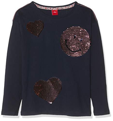 s.Oliver Mädchen 53.908.31.8665 T-Shirt, Blau (Dark Blue 5952), 116 (Herstellergröße: 116/122/REG)