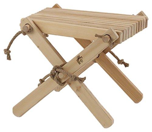 ecofurn Lilli Lärche nat montiert Beistelltisch/Foot Rest, Holz, Natur