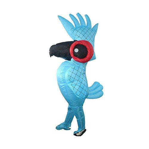 Xnferty Inflatable Parrot Costume, Halloween Fancy Suit Dress Pumpkin Costume Bodysuit Blow Up Cosplay Fantasy Costumes for Adult