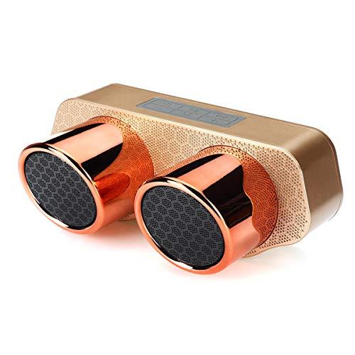 Sistema de Altavoces multifunción, subwoo Sonido bajo estupendo de Altavoces estéreo con micrófono CSR5.0 Recargable Altavoz de la Tarjeta del TF Radio FM portátil inalámbrico Bluetoot