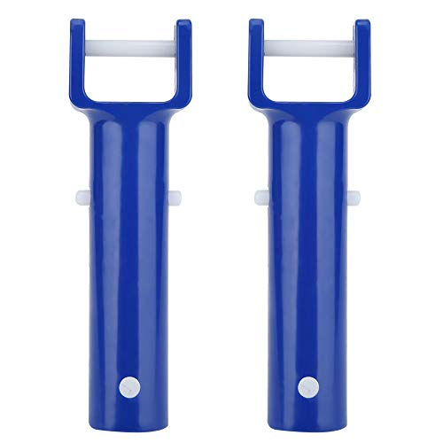 Fdit1 2Pcs V Head Handle Blue Pool V Shape Clip Brush Head Handle Reemplazo para Accesorios de Piscina