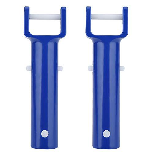TOPINCN 2 Piezas Azul Piscina En Forma De V Clip Cabeza De Cepillo Mango De Repuesto Accesorio para Piscina Paquete Múltiple