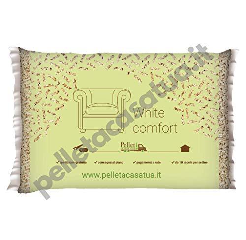 PELLET WHITE COMFORT - 100% ABETE - DOPPIA CERTIFICAZIONE: ENPLUS A1 / DIN PLUS - ALTO POTERE CALORIFICO (60 SACCHI DA 10 KG)