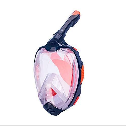 HUOFEIKE Gafas de un Solo Tubo, HD 180 ° Isla panorámica Tour de Snorkel Entrenamiento de natación Piscina de Pesca submarina Océano Antiniebla Plegado a Prueba de Fugas