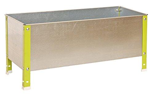 SimonRack G07100220212601 - Huerto urbano, 200 l, 410 x 1200 x 600 mm, color verde/galvanizado