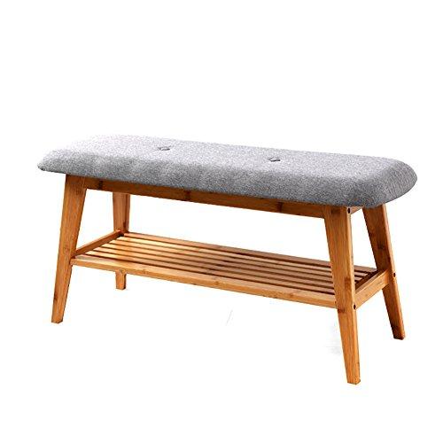 RSWLY Zapatero de puerta simple y moderna de madera maciza, puede sentarse, zapatero o almacenamiento de zapatos o banco (tamaño: 90 cm)