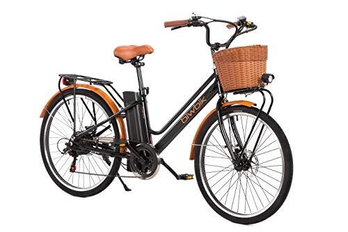 BIWBIK Vélo électrique Mod. Gante Batterie Lithium ION 36V 12Ah (Noir)