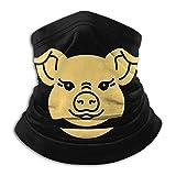 Bandana icône cochon, cache-cou chapeaux sport moto pour femmes hommes visage écharpe noir