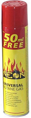 Rsonic ® 300ml Butan Feuerzeuggas Gas - Gasfeuerzeug 300 ml 5 Adapter