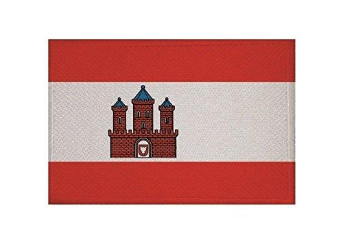 U24 Aufnäher Rendsburg Fahne Flagge Aufbügler Patch 9 x 6 cm