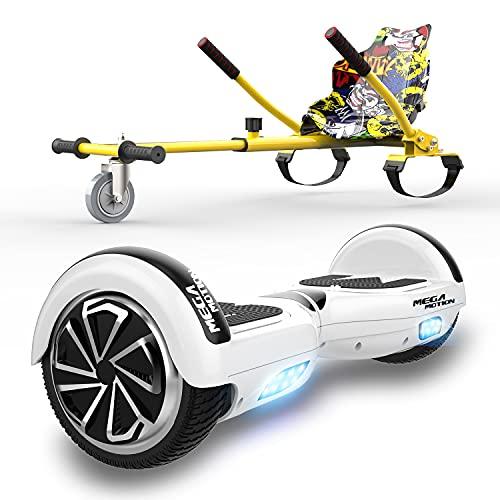 """HITWAY 6.5"""" Hoverboard Patinete Eléctrico con Silla, Scooter Eléctrico Bluetooth Asiento Kart,..."""