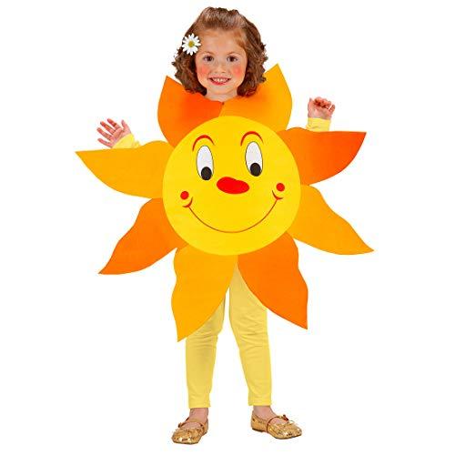 NET TOYS Süßes Kostüm Sonne für Mädchen & Jungen - Gelb-Orange 113cm, 3-5 Jahre - Entzückende Kinder-Verkleidung Sonnenschein Kinderkostüm Blume - Genau richtig für Fasching & Kinder-Karneval