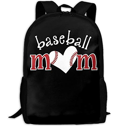 Baseball Love Mom Unique Outdoor Shoulders Bag Fabric Backpack Multipurpose Daypacks For Adult