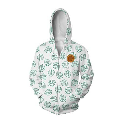 Coslive Tom Nook Kapuzen Pullover Jacke Spiel Cosplay Kostüm Zubehör 3D-Druck Damen Herren Anime Reißverschluss Polyester Hoodie