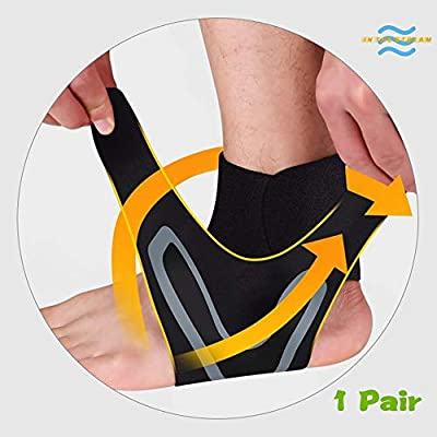 Ankle Braces Apply Even Pressure Across Ankle Joint, Provides Ultimate Pain Relief from a Variety of ailments Including Plantar Fasciitis, sprains, Swelling, tendonitis, Muscle Fatigue