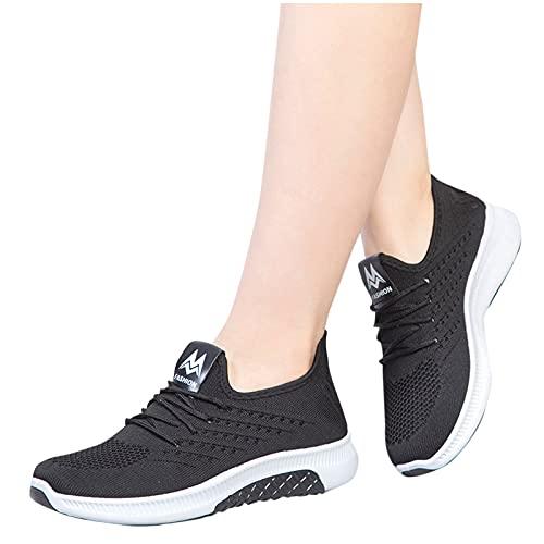 Dasongff Sportschuhe Turnschuhe Atmungsaktiv Rutschfeste Laufschuhe Outdoor Running Leichte Hallenschuhe Schnürer Gym Fitness Trainingsschuhe Mode Sneaker Straßenlaufschuhe für Damen