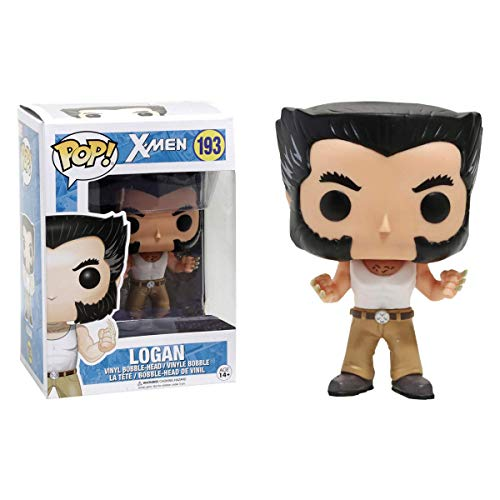 Funko 12550 - X-Men Marvel, Pop Vinyl Figure 193 Logan in Vest