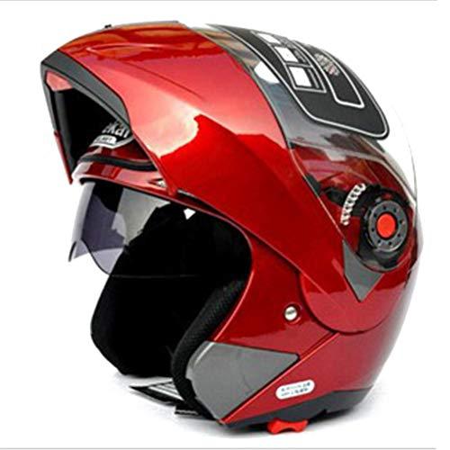 Casco de motocicleta Visera doble Casco de carreras Casco de motocross Casco modular plegable