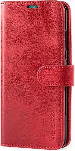 Mulbess Handyhülle für Nokia 2.2 Hülle Leder, Nokia 2.2 Handy Hüllen, Vintage Flip Handytasche Schutzhülle für Nokia 2.2 Hülle, Wein Rot