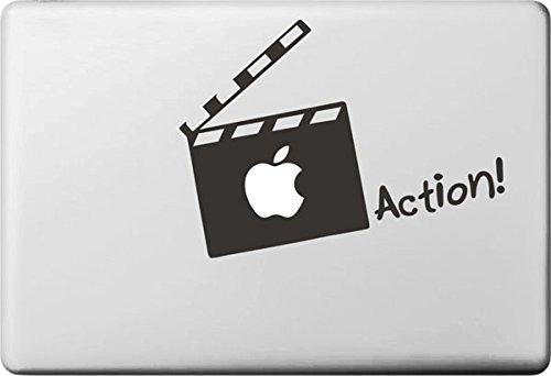 Vati fogli smontabili Apple creativo azione carta Decal Sticker Art nero per Apple Macbook Pro Air Mac 13'15' pollici/Unibody 13'15' Laptop Inch