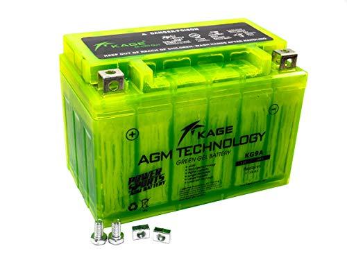 GEL-Batterie-KAGE Green YTX9-BS 9AH für Adly/Herchee Aeon Aprilia Arctic Cat ATU Barossa/SMC Benelli Beta BMW Cagiva Daelim Derbi E-Ton Honda Husaberg Hyosung Kawasaki Kreidler KTM Kymco MBK Piaggio