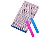 Yolito 100pcs Lima para Uñas Mini 2 Caras Emery Board para Uñas Naturales y Acrílicas, 180/240 Grit