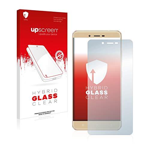 upscreen Hybrid Glass Panzerglas Schutzfolie kompatibel mit BLU Vivo XL 2 9H Panzerglas-Folie