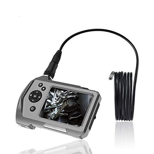 Endoscopio industrial 5.5MM boroscopio cámara de inspección 6 luces LED con pantalla de 3.5 pulgadas 32 GB tarjeta 2600mAh
