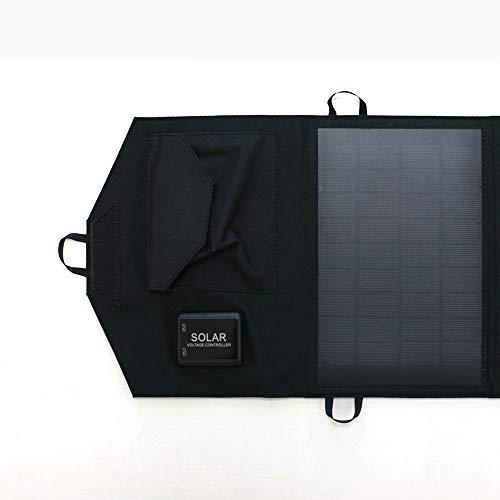 エアージェイ ポータブルソーラー充電器 太陽光充電 最大出力14W AJ-SOLAR14W (ブラック(BK))