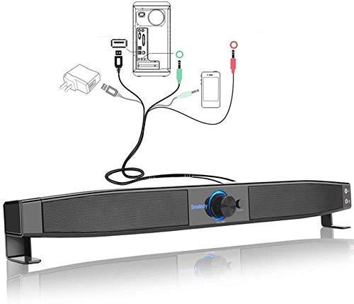 Lautsprecher, Soundbar Bluetooth-Lautsprecher TV-Lautsprecher 360 ° Stereo 3,5...