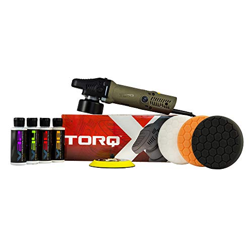 Chemical Guys BUF_503X TORQX Random Polisher Kit with Pads Polishes amp Compounds 9 Items