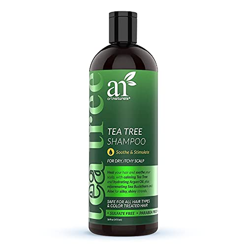 artnaturals Tea Tree Shampoo - (16 Fl Oz / 473ml) - Sulfate Free – Made with 100% Pure Therapeutic Grade Tea Tree Essential Oil