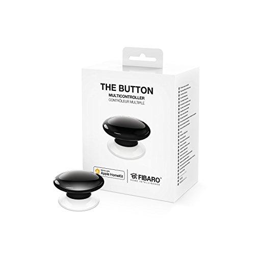 FIBARO HomeKit enabled knappen svart/iOS Bluetooth trådlös bärbar växelknapp, svart, FGBHPB-101-2