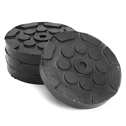 4Pcs Almohadillas de goma redondas para brazos - Almohadilla de elevación - Accesorios para elevadores de camiones que son muy gruesos y muy duraderos, evitan que los rieles del bastidor se doblen