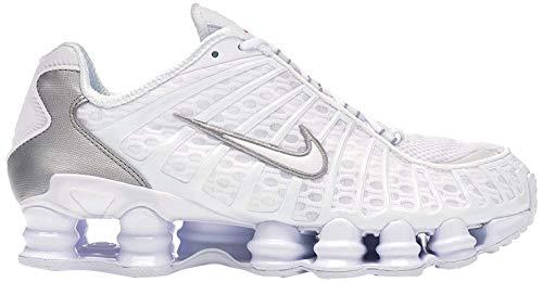 Nike Herren Shox Tl Leichtathletikschuhe, Mehrfarbig (White/White/Metallic Silver/Max Orange 000), 45 EU