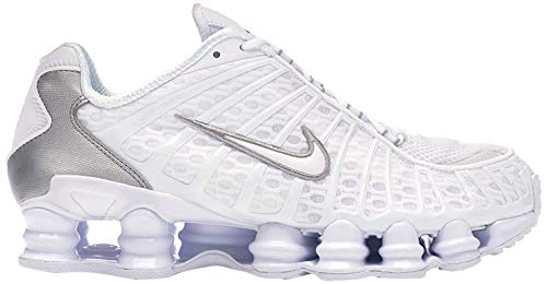 Nike Shox TL, Scarpe da Corsa Uomo, White White Mtlc Silver Max Orange, 46 EU