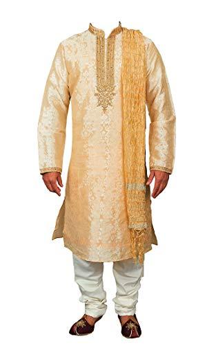 Traje Tradicional Sherwani Kurta Pajama Hombre Jacquard