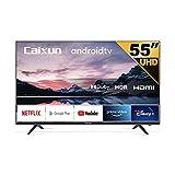 Caixun EC55S1A LED 4K UHD Smart TV de 55'' (139 cm), Android 9.0, HDR10, Bluetooth, Youtube, Netflix, Prime Video, Sintonizador Triple, WiFi, Procesador Quad Core