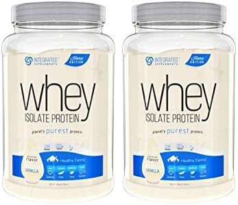 Integrated Supplements Whey Isolate Protein Premium Flavor Vanilla 2 Count product image