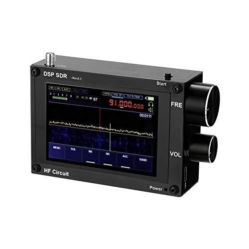 Malahit DSP SDR Receiver,KKmoon Malahit DSP SDR Receiver 50kHz-200MHz,400MHz-2GHz Malahit SDR Shortwave Radio Receiver 3.5 Inch Touching IPS Display Screen Malachite DSP Software Defined Radio