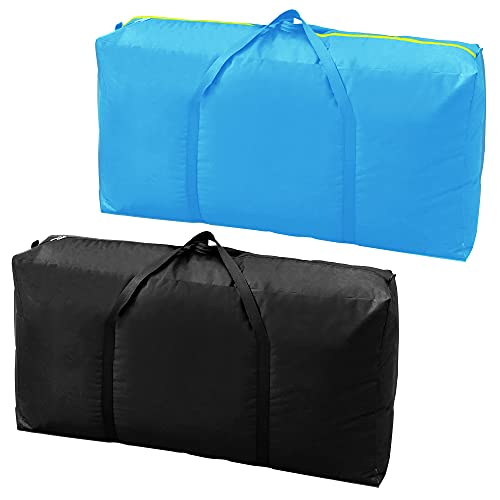 2 XXL Moving Bags, Zannaki Extra Extra Large Heavy Duty Stronger Handles Wrap Around Storage Bags Moving Totes Storage Totes Zippered Reusable Moving Supplies Moving Boxes Clothes Comforters College