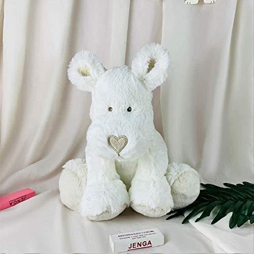 DINEGG Juguetes Blandos para Perros Blancos Juguete de Peluche bebé pello Corto muñeca rellena de Peluche Kawaii Regalo Suave para niños YMMSTORY