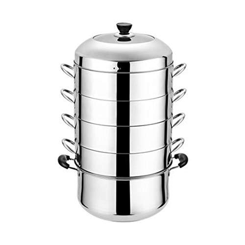 Dampfgarer, Küche Edelstahl Dampfgarer, Suppentopf, Dampf-Saucepot Edelstahl Mehrschichtiger Haushalt/Verdickter Mehrschichtboden Universal I 5-30cm