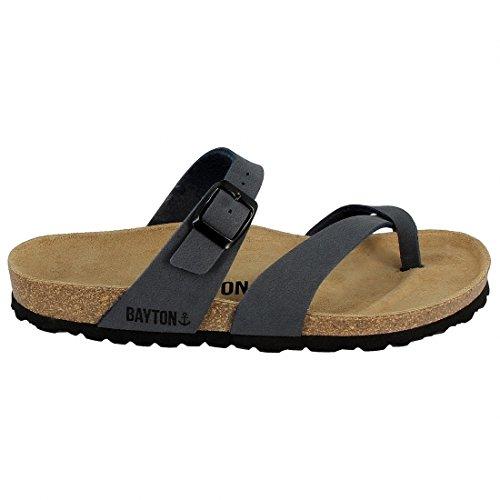 Bayton Men's Toe Loop Sandal, Anthracite, 13