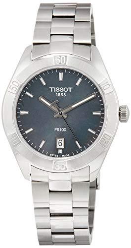 TISSOT Damen Analog Quarz Uhr mit Edelstahl Armband T1019101112100