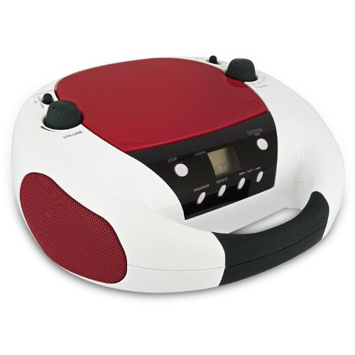BigBen CD-Radio CD52 USB Weiß/Rot